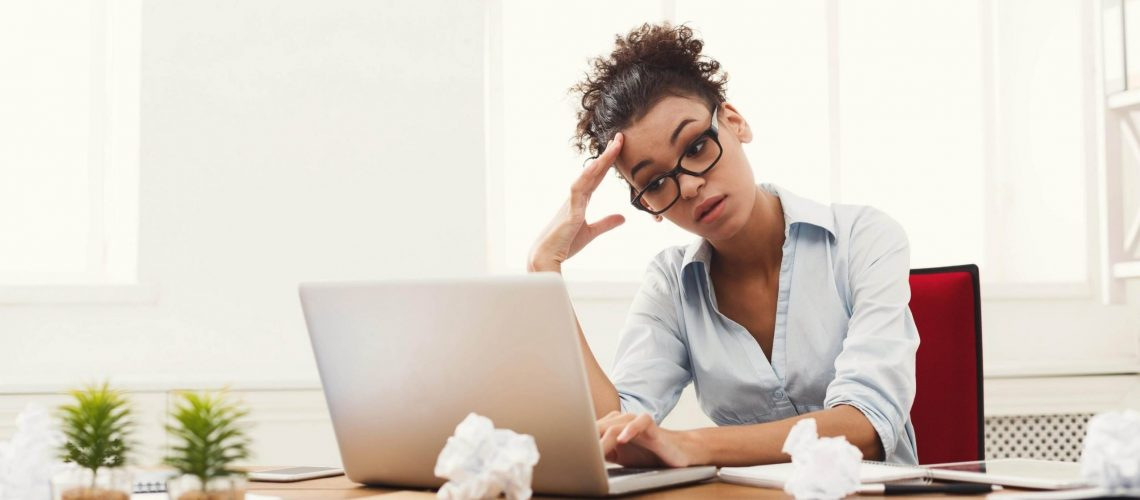going digital frustrating woman business owner
